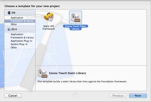 Создание библиотеки iOS